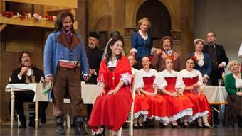 Aufgeräumte Stimmung an der Premiere der Operette Banditenstreiche»