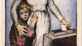 Nach dem Landesstreik konnten die Männer in sechs Kantonen über die politischen Rechte der Frauen abstimmen. Sie lehnten diese überall ab.