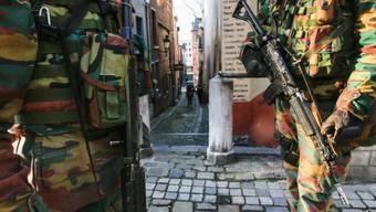 Armeepatrouille in Brüssel nach dem vereitelten Terroranschlag