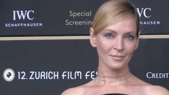 Zürich - 24.09.2016 - Die Schauspielerin Uma Thurman besucht am Samstagabend das Zurich Film Festival.