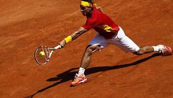 Rafael Nadal mit Spanien führen im Halbfinal gegen Frankreich
