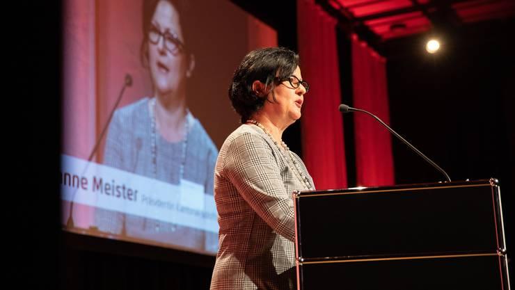 Marianne Meister, Präsidentin des Kantonal-Solothurnischen Gewerbeverbands sprach am Dienstag noch bei der Verleihung des Solothurner Unternehmerpreises.