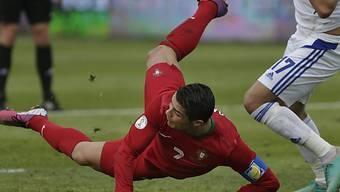 Cristiano Ronaldo blieb gegen Israel ein Tor verwehrt.