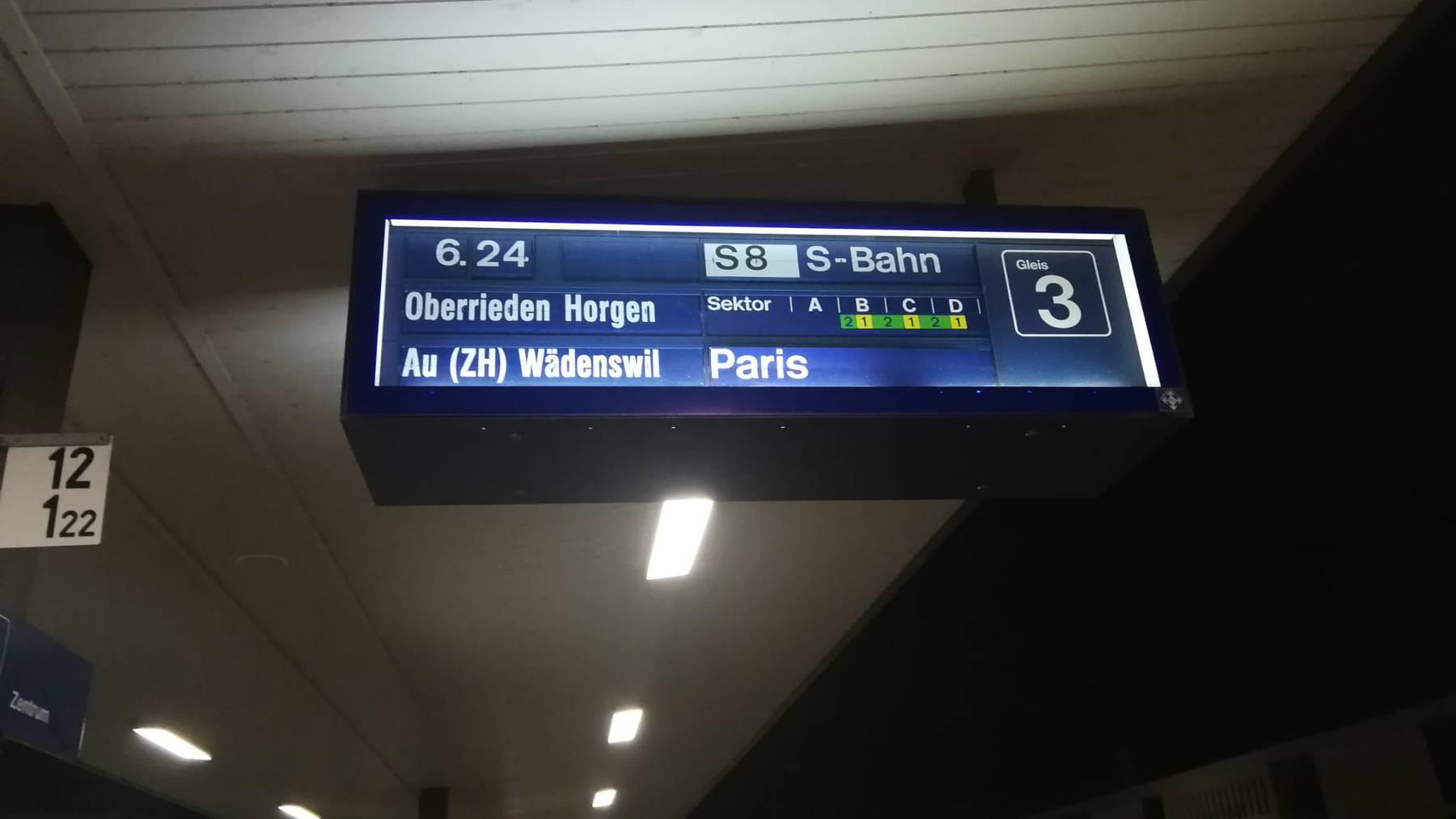 Fährt die S8 neu bis Paris?