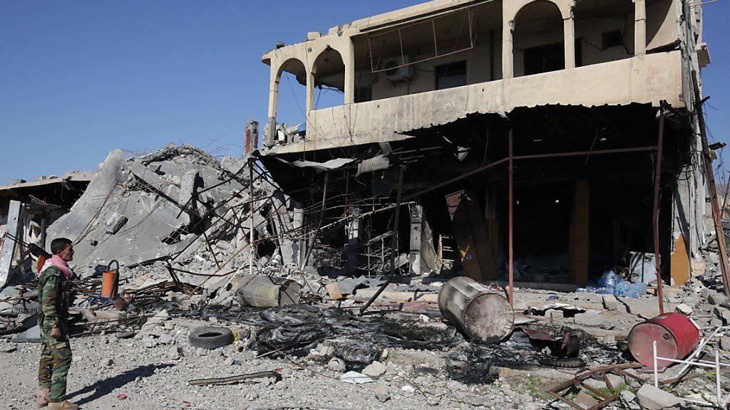 Kurdische Kämpfer nehmen Rache im Irak: Häuser von arabischen Irakern werden zerstört. (Symbolbild)
