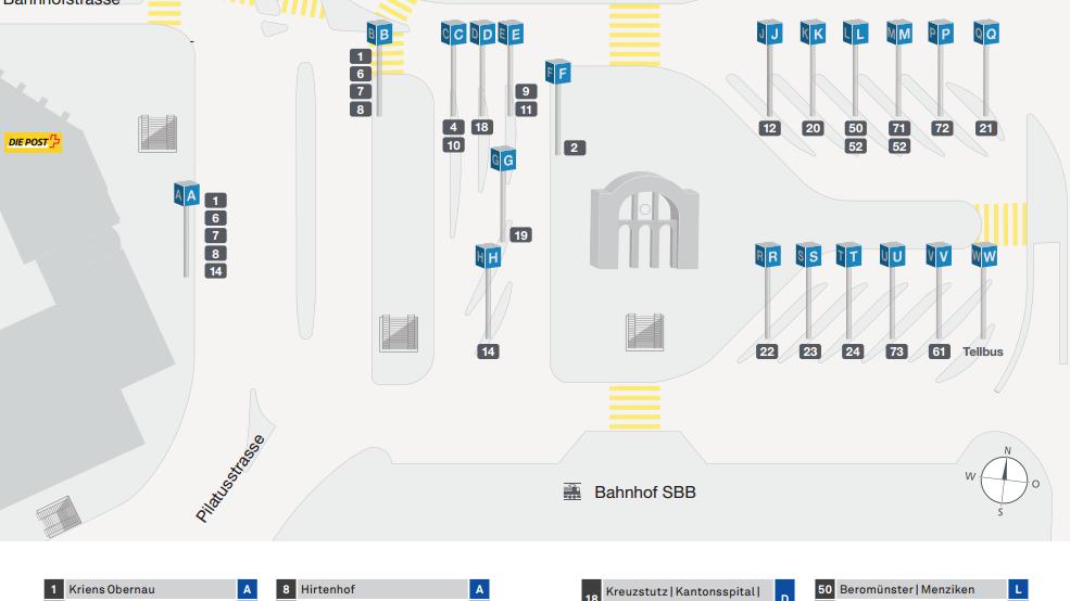 Fahrplanwechsel: Änderungen am Bahnhof Luzern