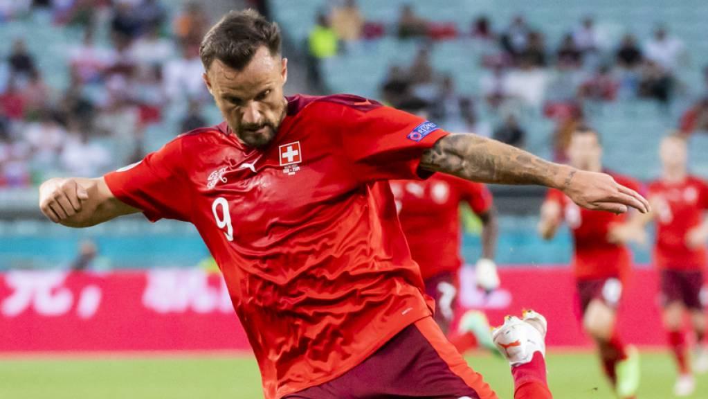 Haris Seferovic war einer der auffälligsten Schweizer beim 3:1-Sieg am Sonntag in Baku gegen die Türkei.