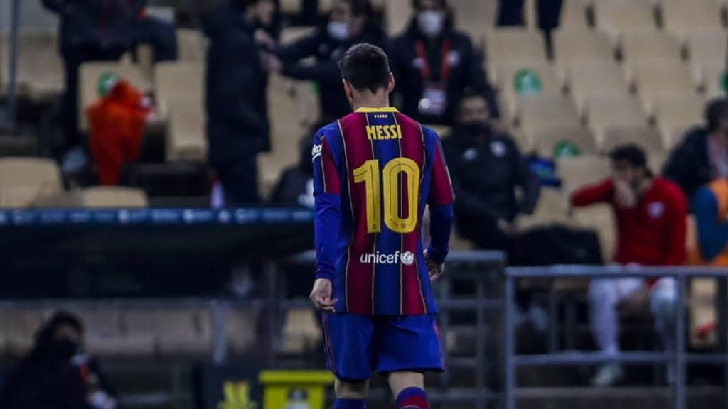 Messi nach Platzverweis im Supercup-Final für zwei Spiele gesperrt