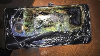 Der Akku des neuen Galaxy Note 7 hat Spuren hinterlassen– nicht nur bei den betroffenen Geräten, sondern auch bei Samsung selbst. SHAWN L. MINTER/Keystone