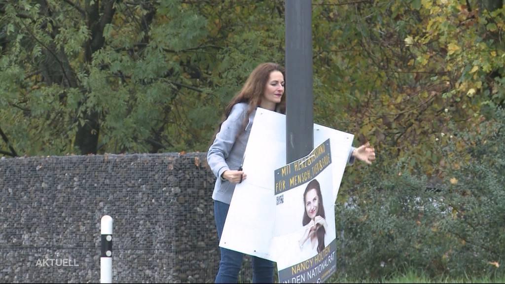 Wer hat die Wahl-Plakate noch nicht abgeräumt?