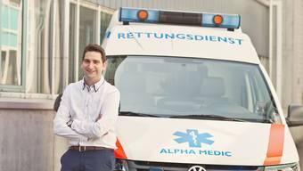 Jean-Claude Furegati mit seiner Alpha Medic. (Archiv)