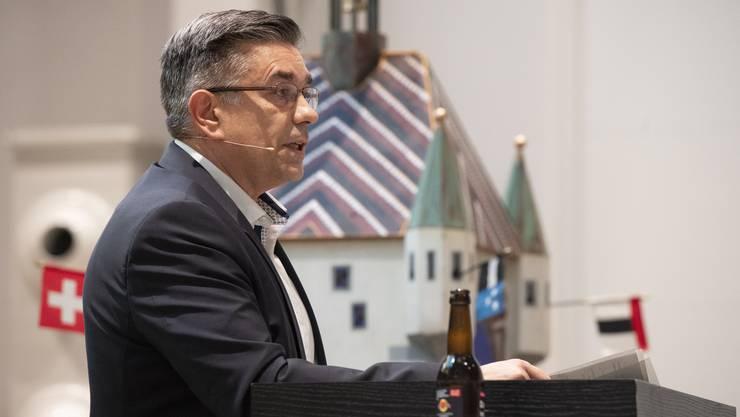 Stadtammann Markus Schneider hält seine Neujahrsansprache.