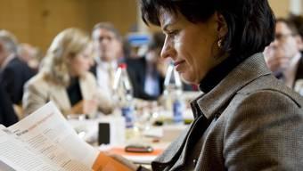 Bundesrätin Doris Leuthard an der DV in Pratteln