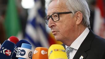 EU-Kommissionspräsident Jean-Claude Juncker hofft noch immer darauf, dass die EU von den Strafzöllen der USA verschont bleibt. Dies sagte er am Donnerstag im Brüssel kurz vor Beginn des EU-Gipfeltreffens (Archiv).