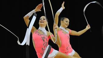 Schweizer Gymnastinnen in Aktion.