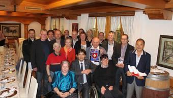 Die geehrten Behördenmitglieder mit Stadtpräsident François Scheidegger.