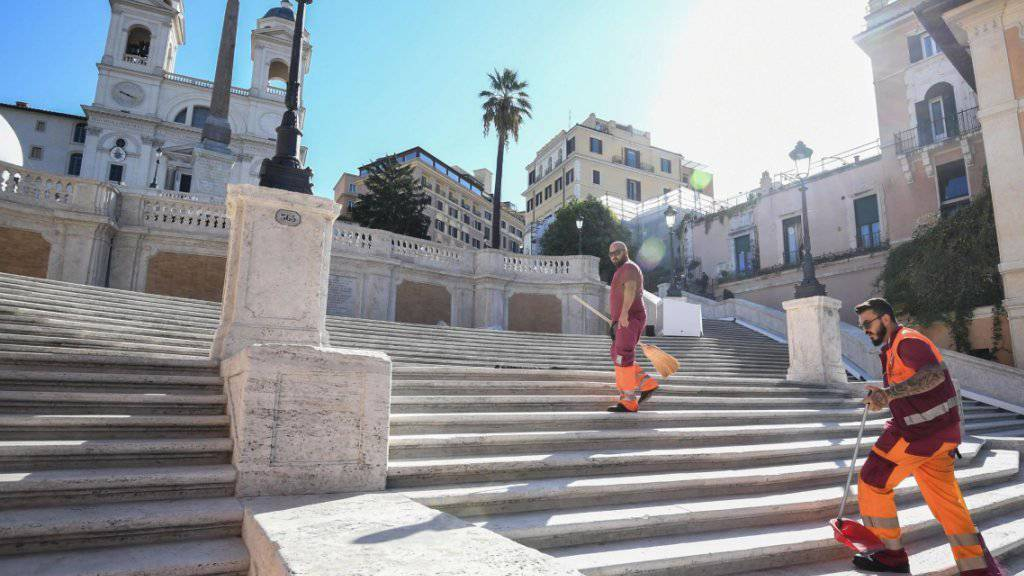 Treppen-Verbot für Touristen in Rom