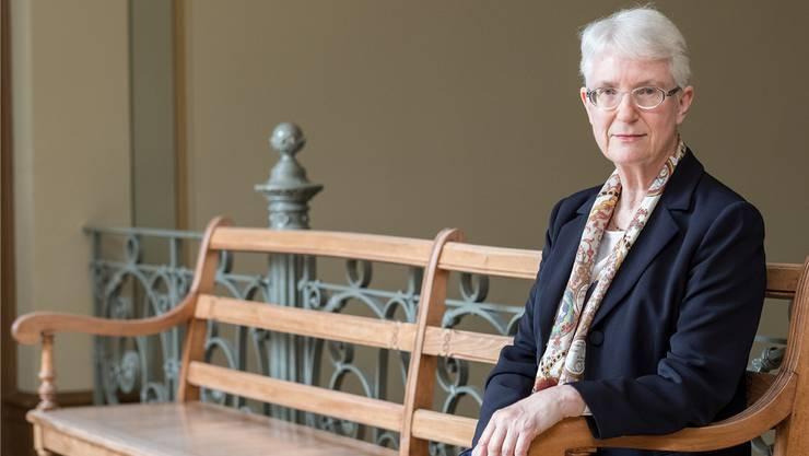 Auf der Ruhebank: Marie-Louise Stamm ist bis Ende Monat Vorsitzende Präsidentin des Basler Appellationsgerichts.