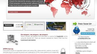 Shodanhq.com indexiert Computerhardware und Serverprotokolle.