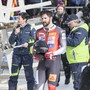 Michael Vogt (21) im Zielraum in St. Moritz