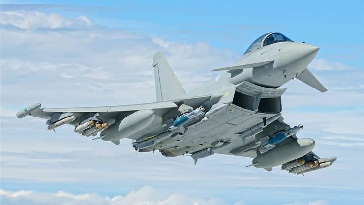 Airbus möchte den Eurofighter bald schon am Schweizer Himmel sehen.HO