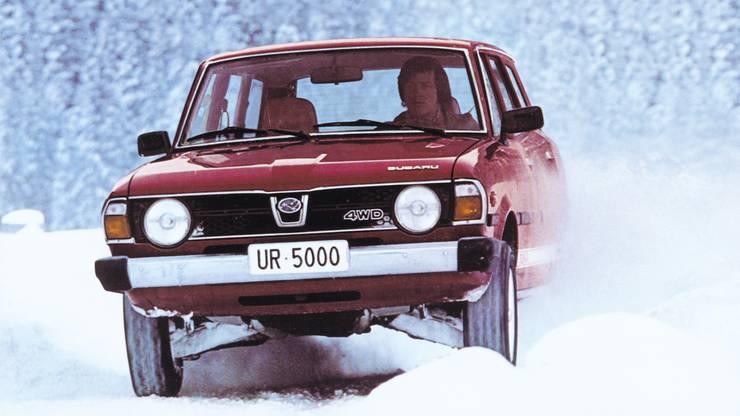 Bernahrd Russi 1979 im ersten Modell, das in die Schweiz importiert wurde: Einem 1600 4WD.