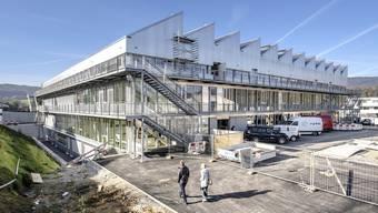 Die neue Sekundarschule Laufen befindet sich noch im Umbau. (13.11.2020)