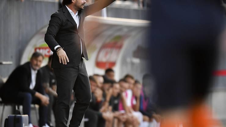 Wils Trainer Ciriaco Sforza nimmt gegen Lausanne die richtigen Korrekturen vor