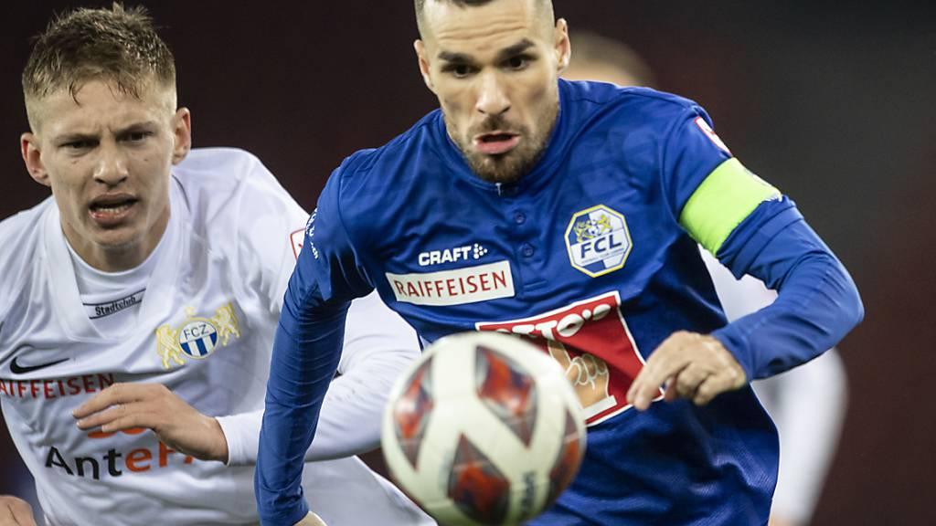 Dejan Sorgic und der FC Luzern enteilen dem FC Zürich in den Startminuten entscheidend