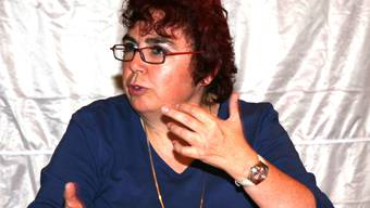 Schriftzug stimmt schon: Christine Haller agiert neu für die Grünliberalen.peter siegrist