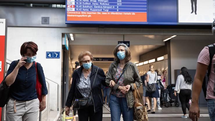 Seit dem 6. Juli müssen alle ÖV-Passagiere in der Schweiz Masken tragen.