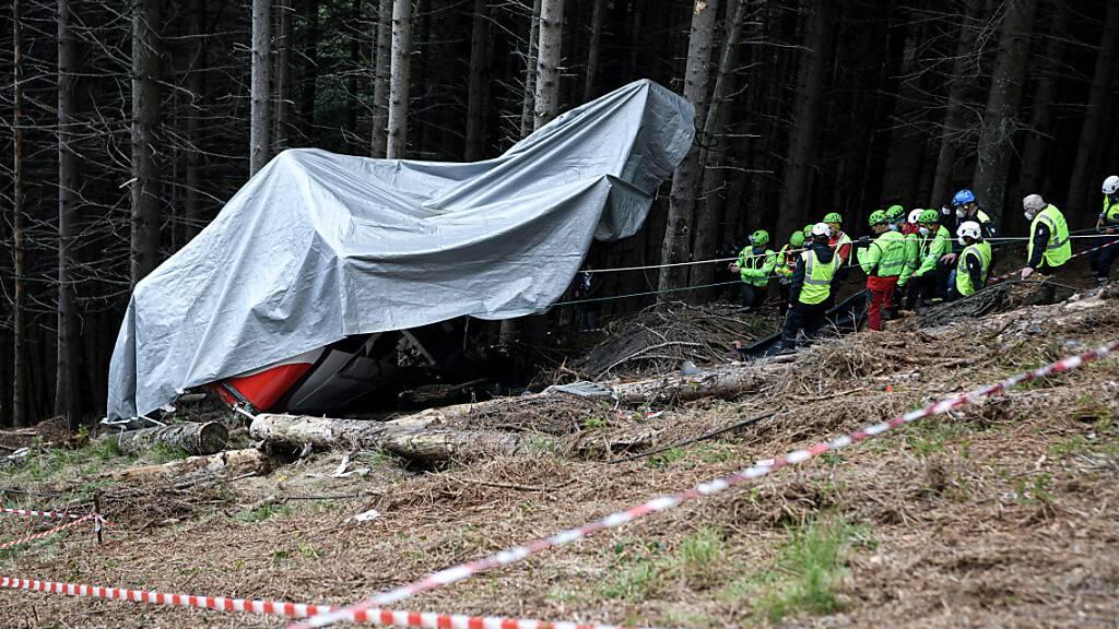 Abgestürzte Gondel in Norditalien soll entfernt werden