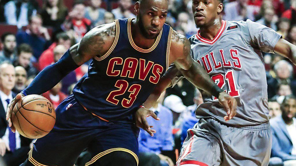 LeBron James erzielte gegen die Chicago Bulls 26 Punkte und traf damit in der ewigen Bestenliste Shaquille O'Neal