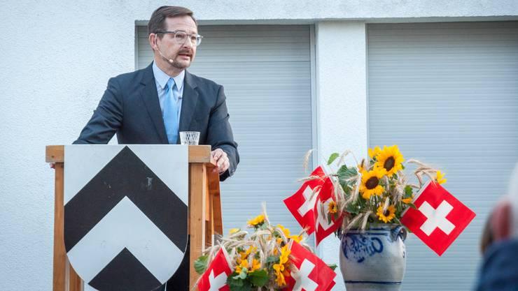 OSZE-Generalsekretär Thomas Greminger an der Augustfeier in Bussnang.