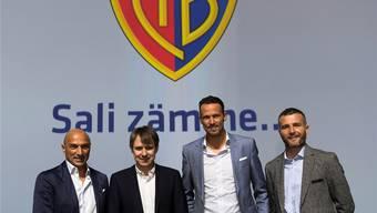 So soll die neue FCB-Führung im Sommer aussehen (v.l.): Massimo Ceccaroni, Bernhard Burgener, Marco Streller und Alex Frei.