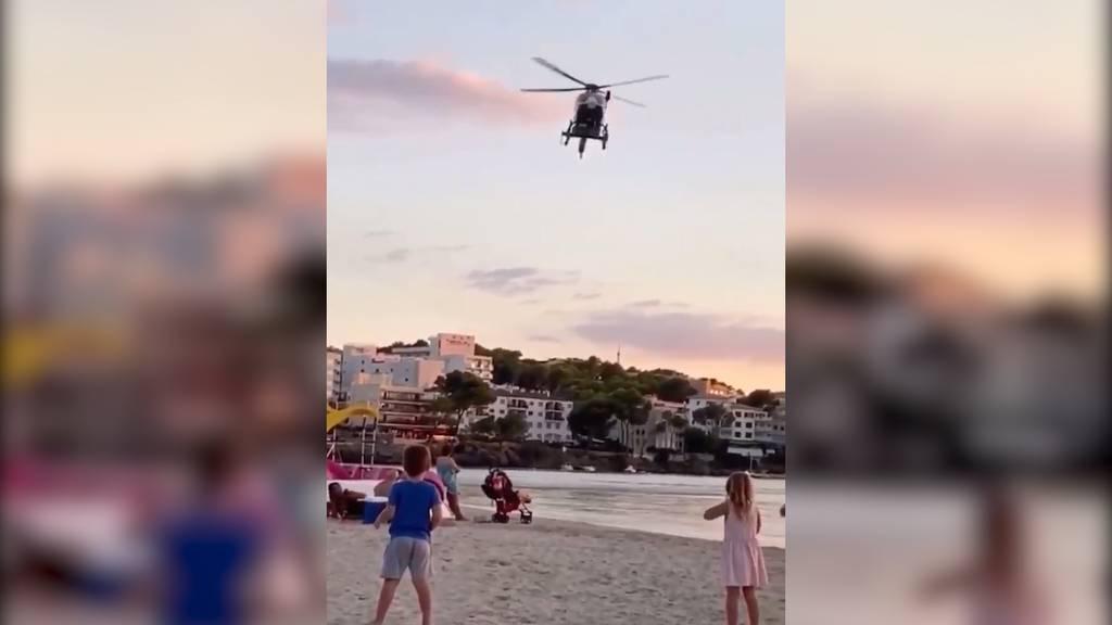 Mallorca: Polizeihelikopter verscheucht Strandbesucher