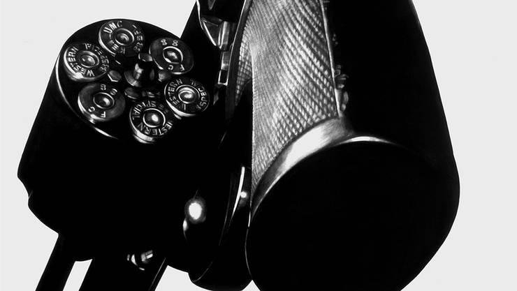 Echte Freiheit oder Fantasie? Eine Smith&Wesson-Pistole, gezeichnet von Robert Longo. Robert Longo