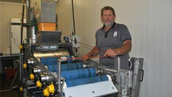 Die Mostpresse von Dieter Bürgi in Olsberg war in den vergangenen Tagen bereits mehrfach in Betrieb.