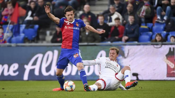 Der FC Basel schlägt Sion 1:0.