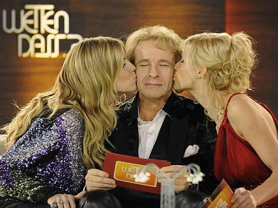 Gottschalk will geliebt werden - Küsschen von Heidi Klum und Michelle Hunziker