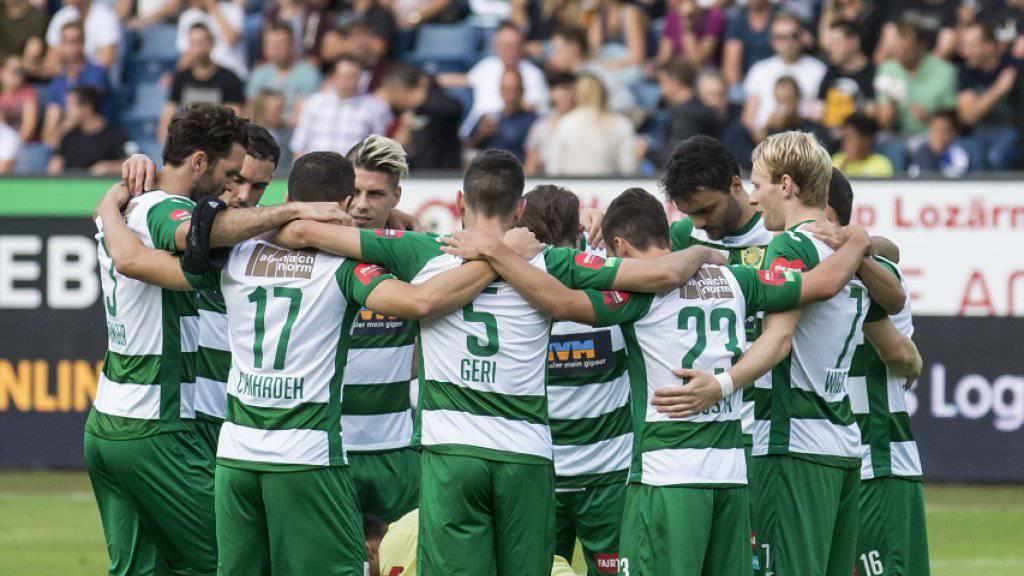 Nach sechs Jahren wieder in der Challenge: die Fussballer des SC Kriens