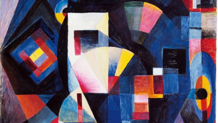 Johannes Itten «Komposition in Blau» von 1918.