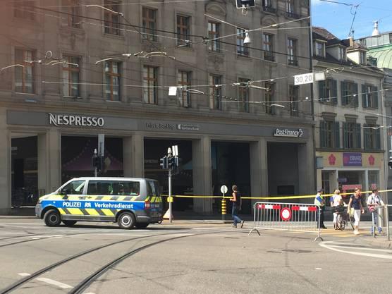 Steinenberg wegen Polizeieinsatz gesperrt