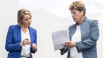 Strengeres Coronaregime im Kanton Zürich: Die Regierungsrätinnen Natalie Rickli und Silvia Steiner.