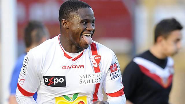 Guilherme Afonsos Reaktion nach seinem Treffer zum 1:0 für Sion