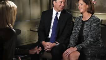 Supreme-Court-Richterkandidat Brett Kavanaugh mit seiner Frau Ashley beim TV-Interview.