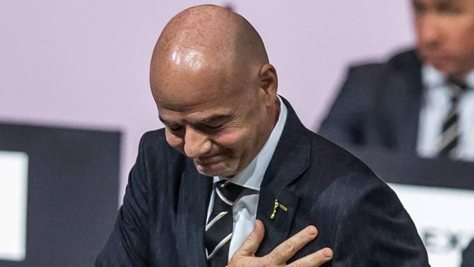 Gianni Infantino nach seiner Wiederwahl als Fifa-Präsident im vergangenen Juni.