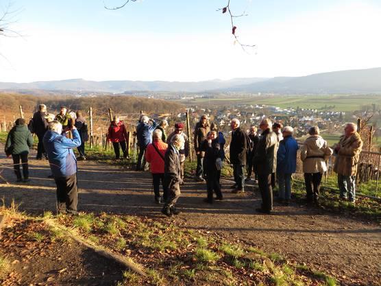 Top Wetter am 5. Januar 2015 bei der Wanderung von Allschwil nach Biel-Benken