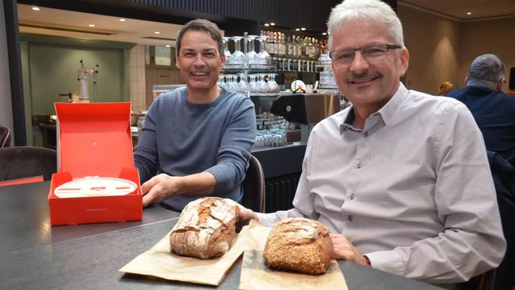 Michael Brüderli, CEO Suteria, und Markus Hunziker, Geschäftsführer Archer Beck, arbeiten jetzt zusammen.