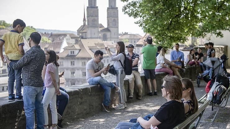 Touristen sind in der Stadt Zürich wegen der Corona-Krise rar geworden. (Archivbild)